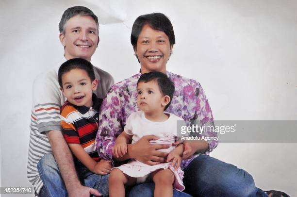 A family photograph of Malaysian Airlines flight MH17 victims John Paulissen his wife Yuli Hastini and their two children Martin Arjuna Paulissen and...
