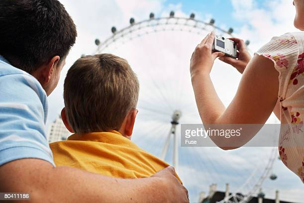 Family Photographing London Eye