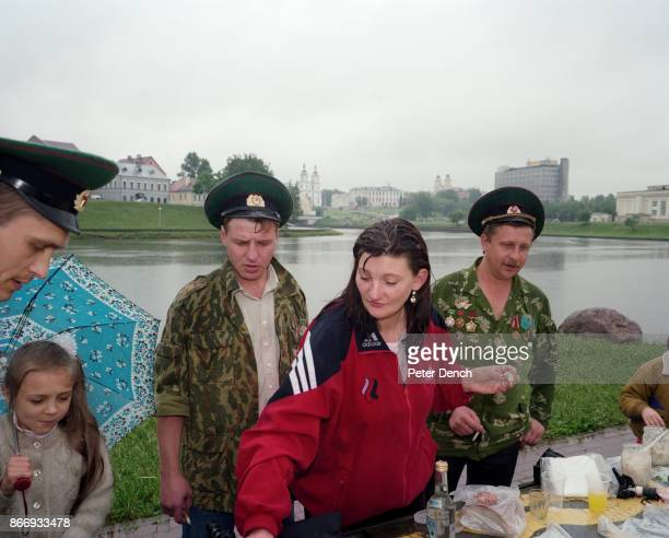 A family picnic honouring war veterans on Victory Day at The Isle of Tears a monument dedicated to the soldiers who perished in the nineyear conflict...