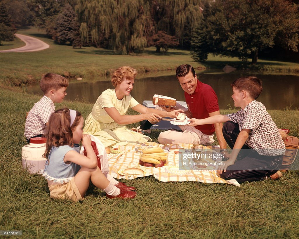 Family Picnic. : Stock Photo