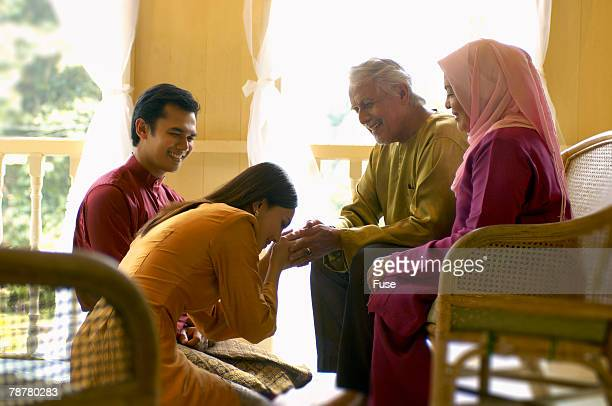family - hari raya stock pictures, royalty-free photos & images