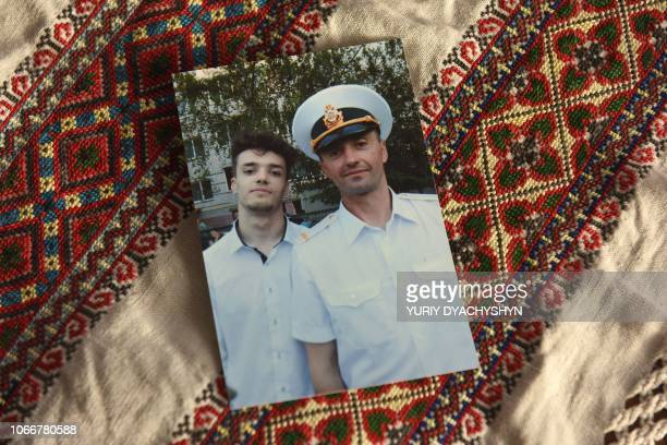 A family picture showing Andriy Oprysko a 47yearold able seaman one of 24 Ukrainian sailors who have been held captive by Moscow since the incident...