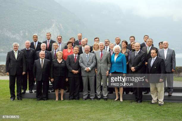 A family picture taken on September 23 2008 in Annecy French Alps during a meeting of the EU Agriculture ministers shows eurodeputy Spanish Luis...