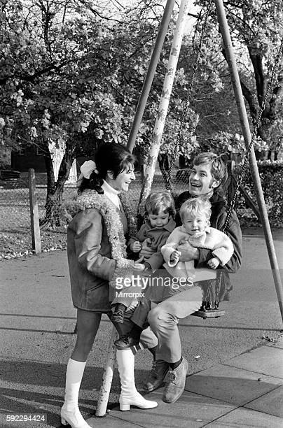 Family pictures of Alan and Maureen Rothwell with babies Tody aged 2 years and Ben aged 16 months playing on the swings and slides at their local...