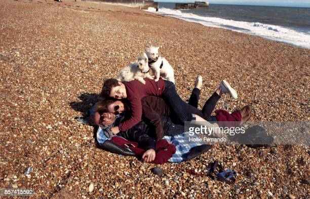 family pile up - hastings stock photos and pictures
