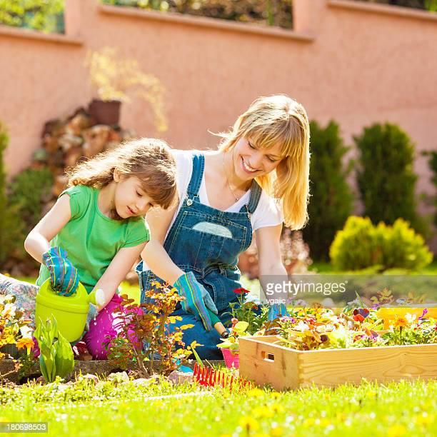 Familie Pflanzen Blumen zusammen.