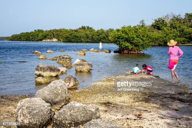 A family playing at John Pennekamp Coral Reef State Park