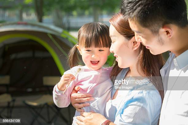 Family Playing Outdoors