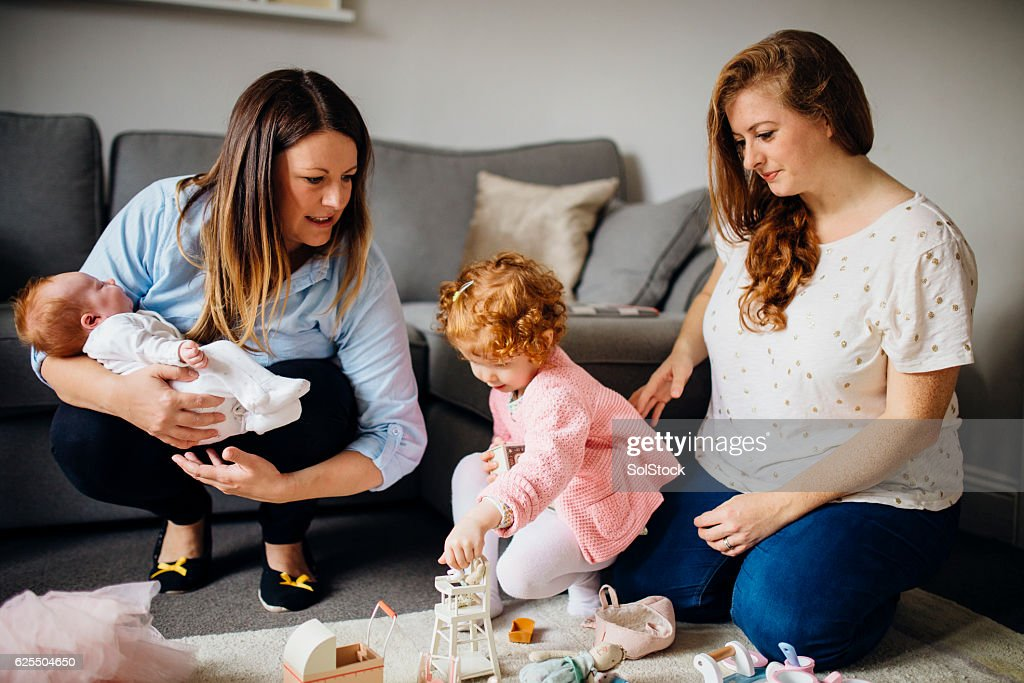 Family Playtime at Home : Stock Photo
