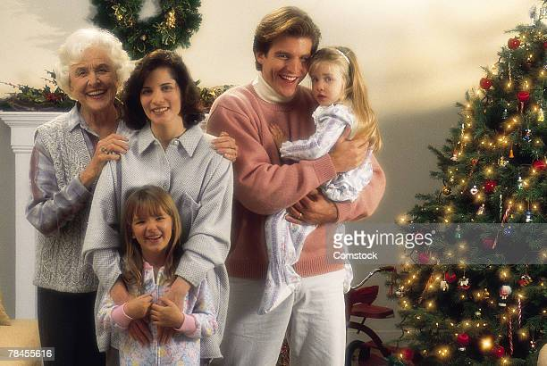Family portrait at Christmas time