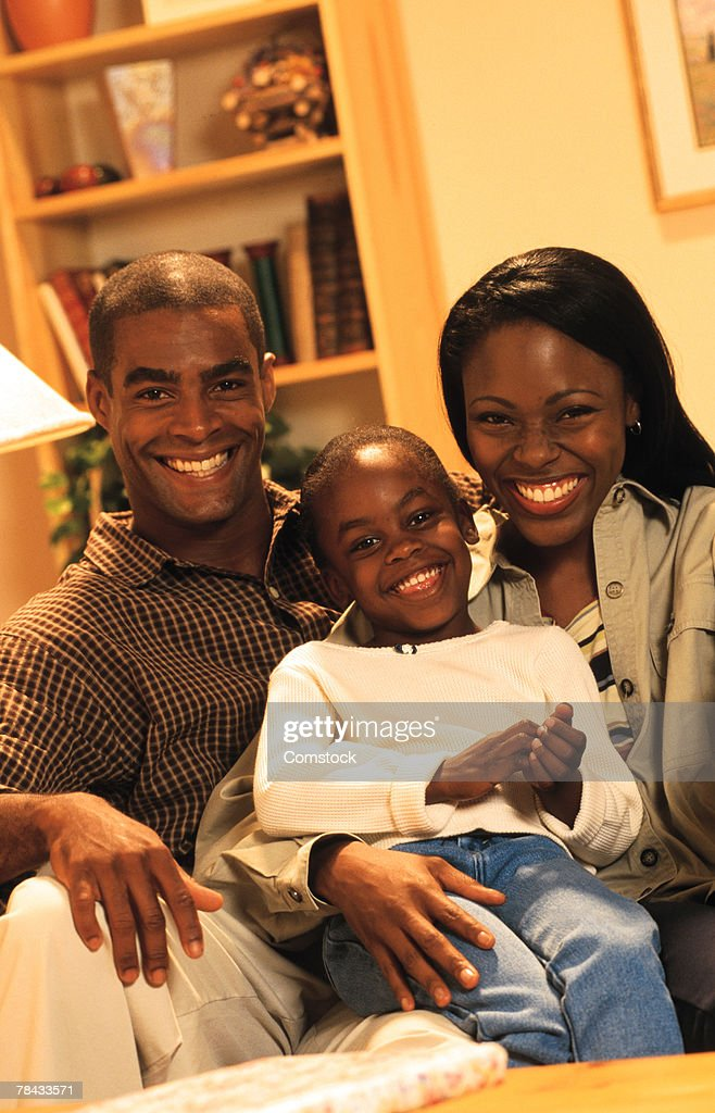 Family portrait at home : Stockfoto