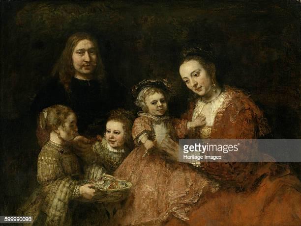 Family portrait ca 1665 Found in the collection of Herzog Anton Ulrich Museum Braunschweig Artist Rembrandt van Rhijn