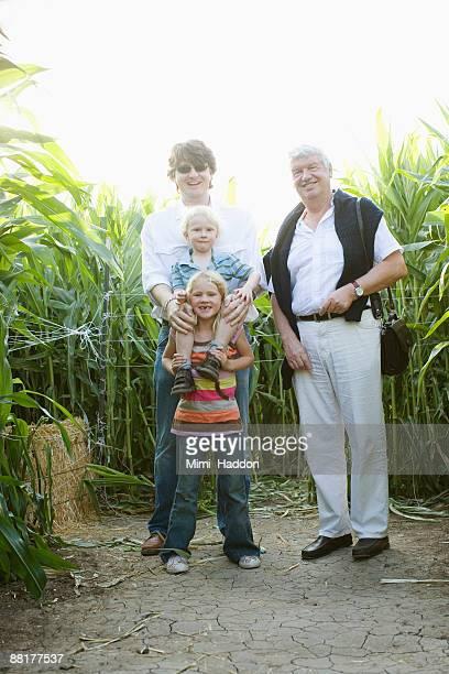Family portrait in sugarcane field