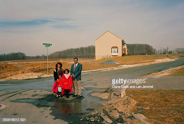 family portrait, milestone development, germantown, maryland usa - germantown maryland stock photos and pictures