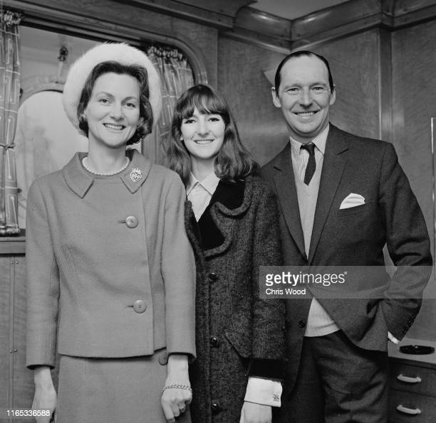 Family portrait of Sylvia Thomas Victoria Mary OrmsbyGore and British diplomat and Conservative politician David OrmsbyGore 5th Baron Harlech UK 23rd...