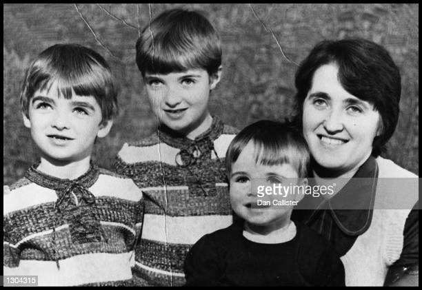 Family portrait of the Gallagher family in the mid 1970's from left to right Noel Paul Liam and Mum Peggy Gallagher Noel and Liam Gallagher are both...