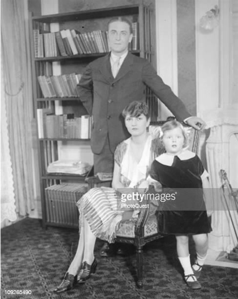 Family portrait of the writer F Scott Fitzgerald , his wife Zelda , and daughter Frances 'Scottie' Fitzgerald, 1925.