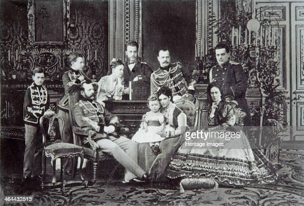 Family portrait of Tsar Alexander II of Russia 1860s Alexander was Tsar of Russia from 1855 Known as 'The Liberator' he emancipated Russia's serfs in...
