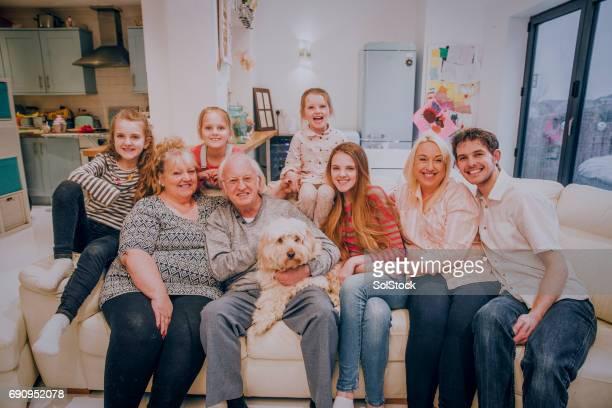 Family Portrait on the Sofa