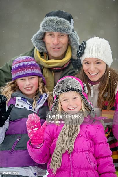 Family Portrait Outside in the Snow