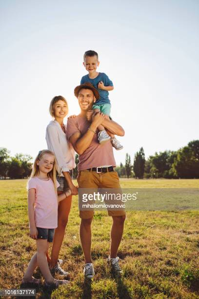 family portrait - vertical stock pictures, royalty-free photos & images