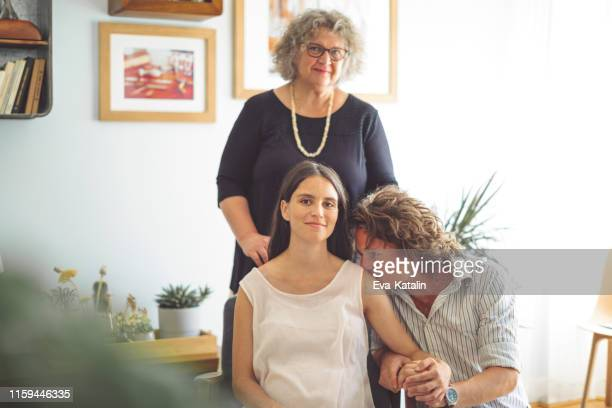 family portrait - mother in law stock pictures, royalty-free photos & images