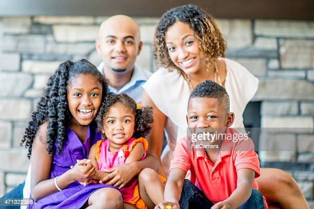 family portrait - white wife black baby stock photos and pictures