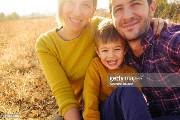 family portrait - family with one child stock pictures, royalty-free photos & images