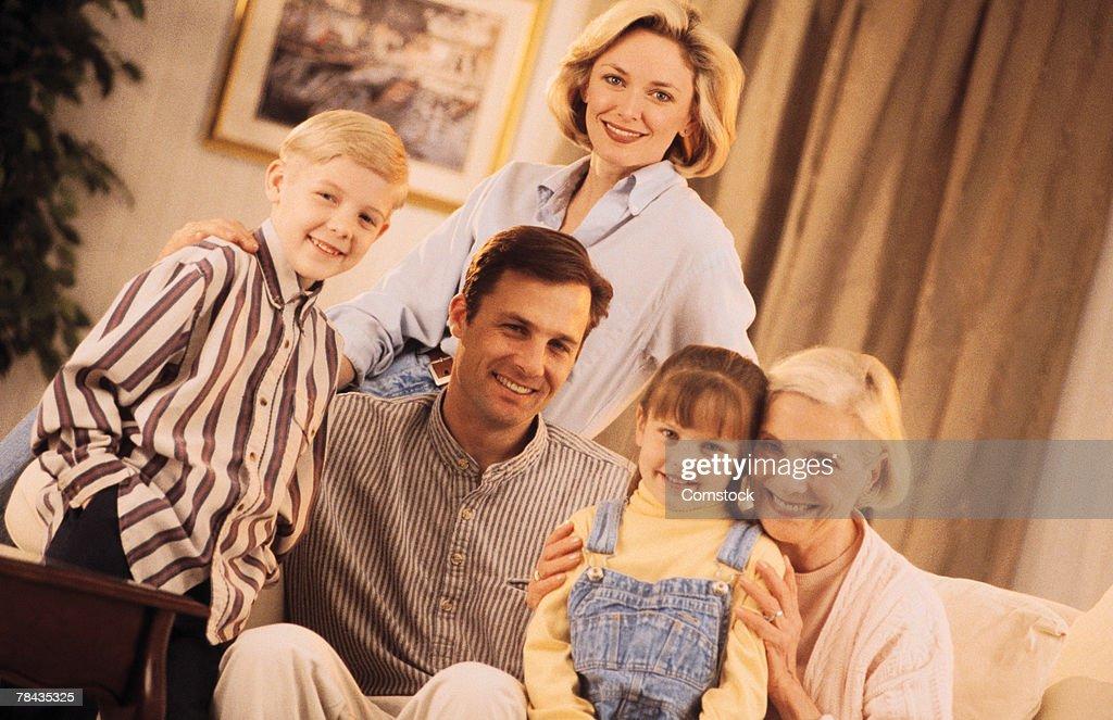 Family portrait : Stockfoto