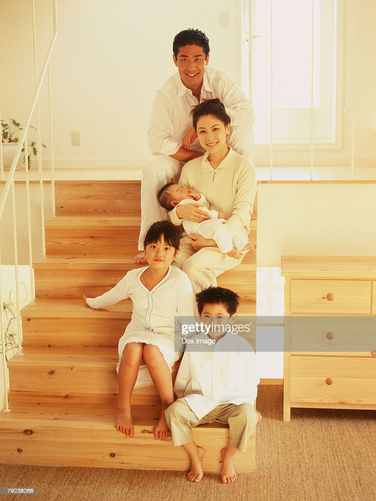 A family portrait : Stock Photo