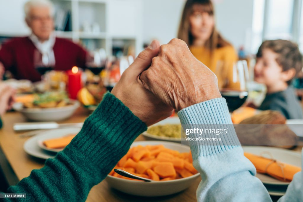 Family prayer : Stock Photo