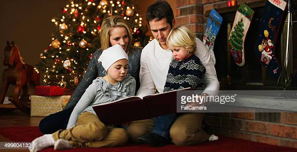 Family Reading a Christmas Story