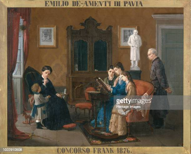 Family Reading of The Betrothed 1876 Found in the Collection of Musei Civici Pavia