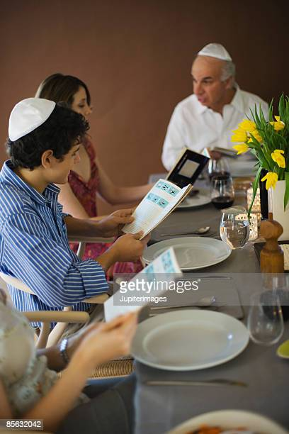 Family reading out of the torah