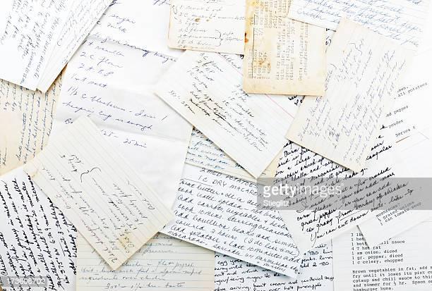 ファミリーレシピ - インデックスカード ストックフォトと画像