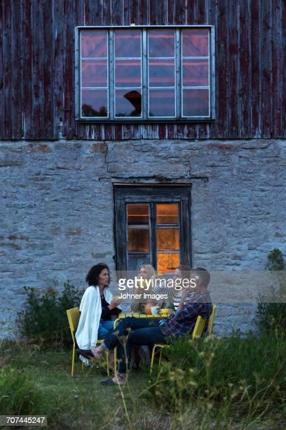 family relaxing outdoor - エーランド ストックフォトと画像