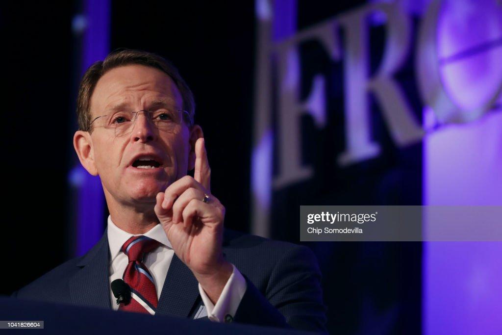Senate Majority Leader McConnell Addresses Value Voters Summit : News Photo