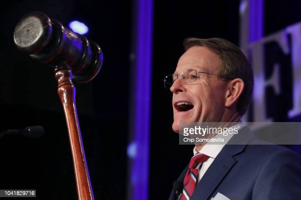 Family Research Council President Tony Perkins delivers remarks at the opening of the council's Value Voters Summit at the Omni Shoreham Hotel...