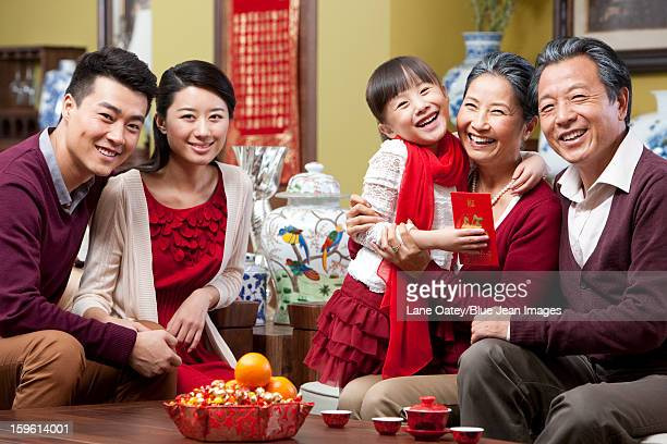 Family reunion during Chinese New Year
