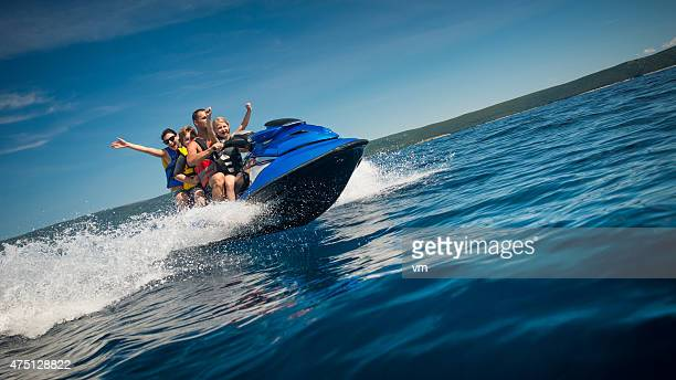 Family Riding a Jet Boat