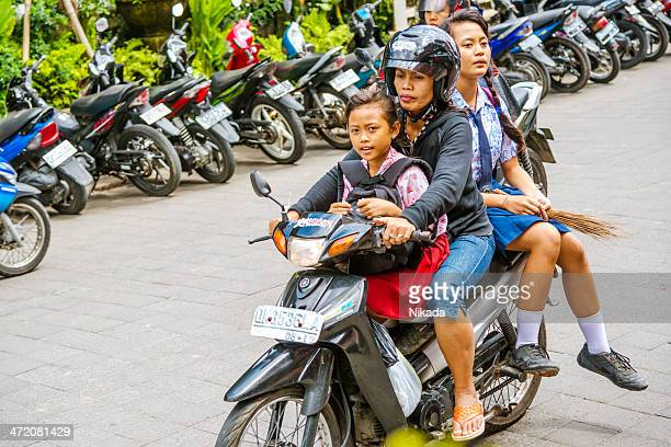 Family riding a Motorcycle