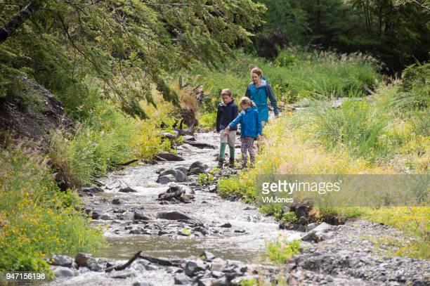 国立公園内を横断する家族川 - オーストラレーシア ストックフォトと画像