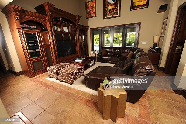 Family room at Jon Secada's home on January 13 2011 in Coral Gables Florida