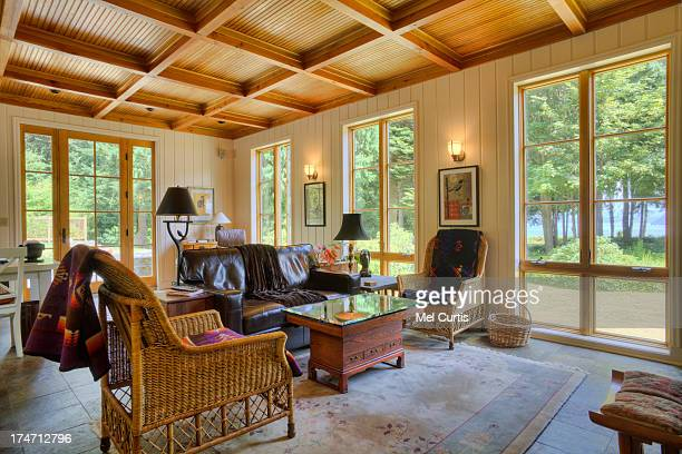 Family room in luxury home in the Pacific Northwes