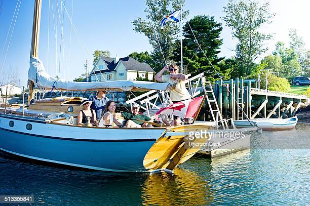 Family Sailing on Mahone Bay Nova Scotia