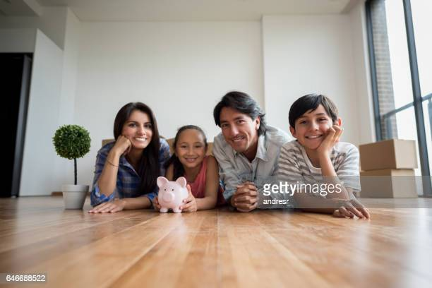 Family savings money for their new house