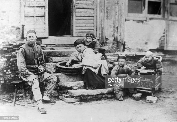 A family scene in China In October of 1911 the revolution started in China which would see the end of the Qing Dynasty