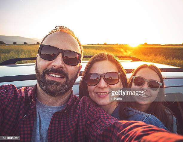 family selfie in the nature - daughter photos stock photos and pictures