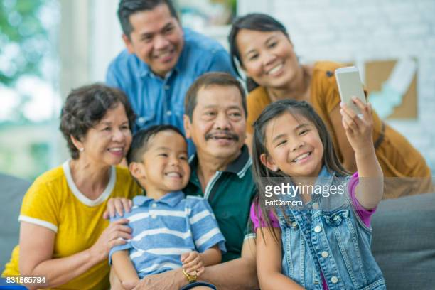 family selfie - philippines family stock pictures, royalty-free photos & images