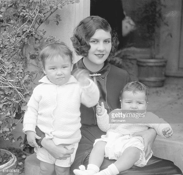 Family Separated From Charlie Chaplin A very recent picture of Mrs Lita Grey Chaplin wife of Charles Spence Chaplin with her two children Sidney Earl...